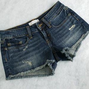 BP Distressed Cutoff Shorts Dk Wash Sz 0